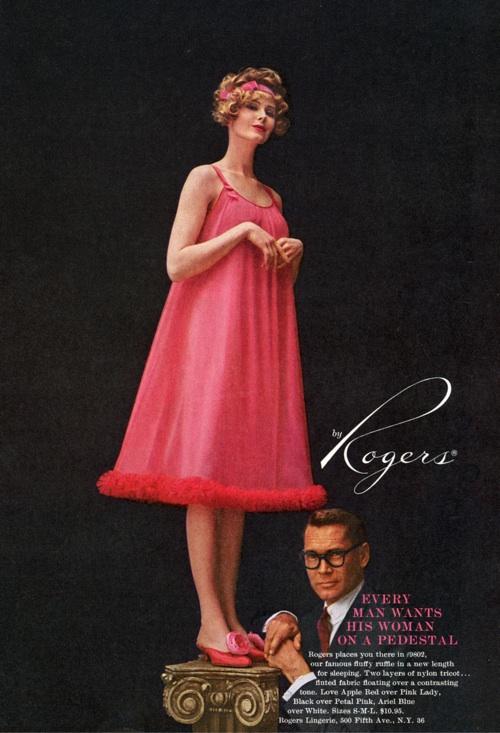 Rogers lingerie ad vintage 1958