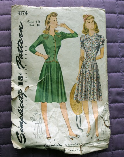 1940s Simplicity Sewing pattern