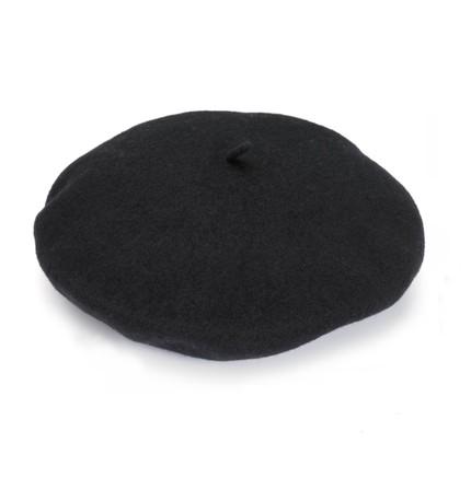 black vintage beret