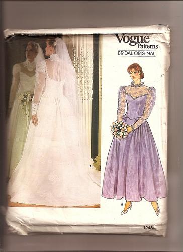 vogue wedding dress pattern 80s