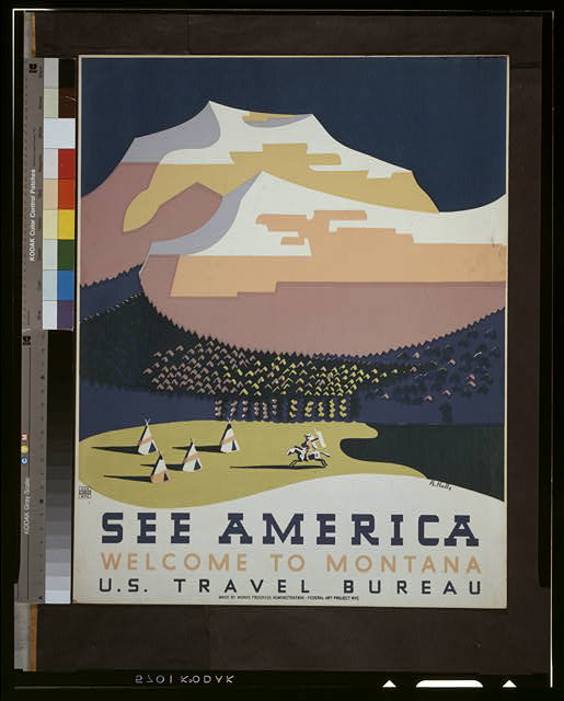 WPA poster america