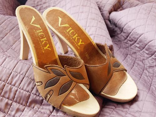 Leather Sandal Heels