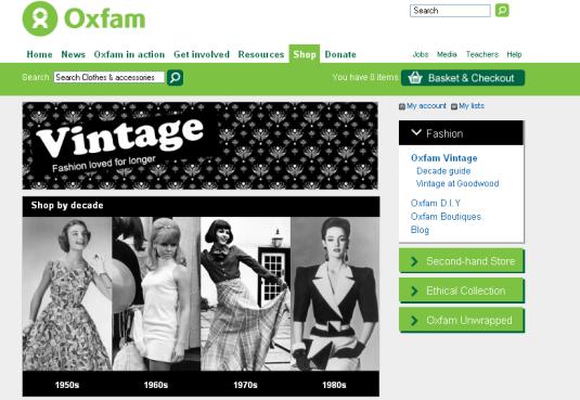 oxfam vintage