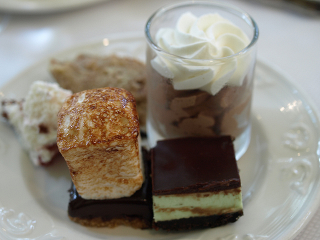 dessert s more chocolate mousse bread pudding trifle and a mint bar ...