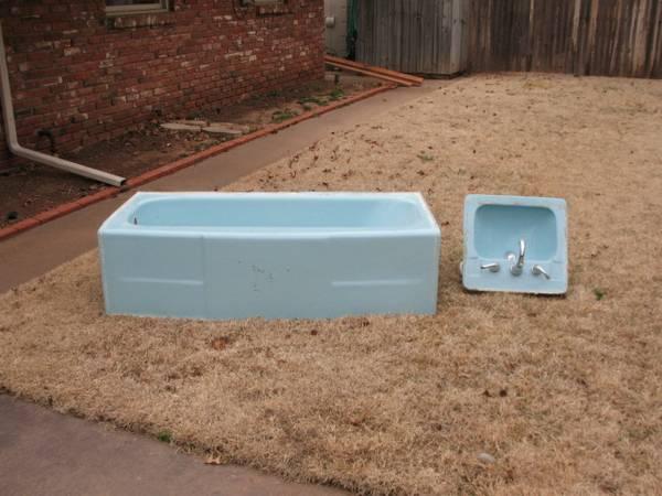Bathroom Sinks Craigslist craigslist repost – free blue bathroom set of tub, sinks and